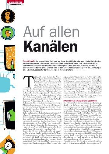 """Artikel in Energiespektrum, 12.12, """"Auf allen Kanälen"""" - KEYLENS ..."""