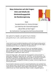 Rede von Bundesministerin Kristina Schröder - Die kfd