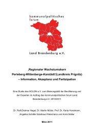 'Regionaler Wachstumskern Perleberg-Wittenberge-Karstädt ...