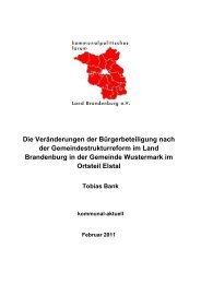 01-2011 - kommunalpolitisches forum Land Brandenburg eV