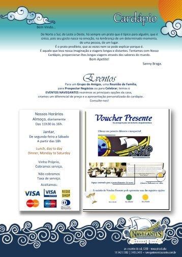 Eventos - Navegantes Cozinha do Mediterrâneo
