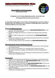 Geschäftsverteilungsplan Stand Februar 2010