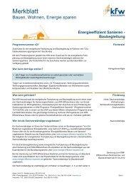 Merkblatt Energieeffizient Sanieren –Baubegleitung (PDF, 51 ... - KfW