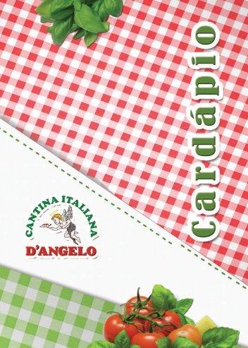 veja cardápio completo - clique aqui - Cantina Italiana D'Angelo