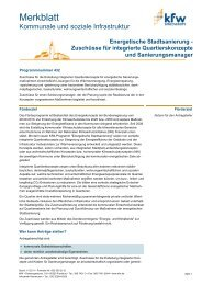 Merkblatt Energetische Stadtsanierung - Zuschuss (PDF, 723 ... - KfW