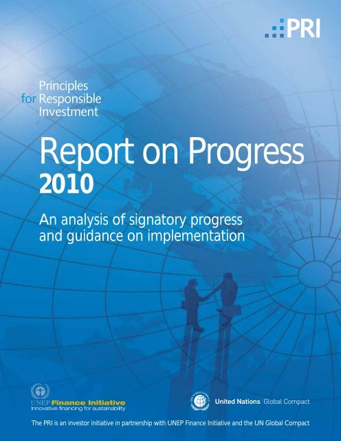 Report on Progress | 2010 - Principles for Responsible Investment