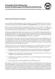Vertrag über die Vermittlung eines privaten Kraftfahrzeuges