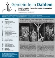 März 2007 - Evangelischen Kirchengemeinde Berlin-Dahlem