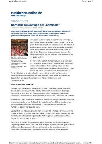 Artikel Ksta Prunksitzung - KG Rot-Weiß Gemünd