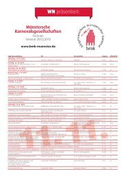 Kalender 2012/2013 - KG Monasteria Principale eV