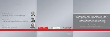 Kompetente Kontrolle der Unternehmensführung - k.group