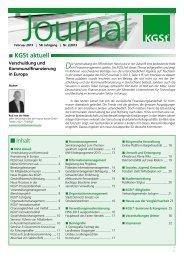 KGSt-Journal Februar 2013 - European Public Sector Award 2013