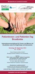 Patientinnen- und Patienten-Tag Brustkrebs