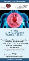 Herztag am 17. November 2012 10.00 bis 13.30 Uhr