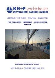 Yachtcharter: Mitsegeln - Karibik auf dem Schoner