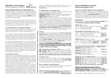 Preisblatt - KH+P Yachtcharter