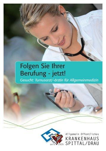 Turnusärzte/-ärztinnen für Allgemeinmedizin - Krankenhaus Spittal ...