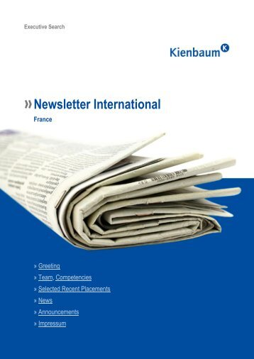 Newsletter International France – » News - Kienbaum