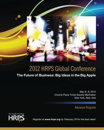 2012 hrps global conference - kienbaum consultants