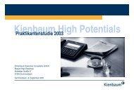 High Potentials – Praktikantenstudie - Kienbaum