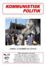 Nr. 13 2011 - Kommunistisk Politik