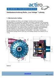 "Gebläsebeschreibung Reihe ""Low Voltage"" 1-phasig - actiro.de"