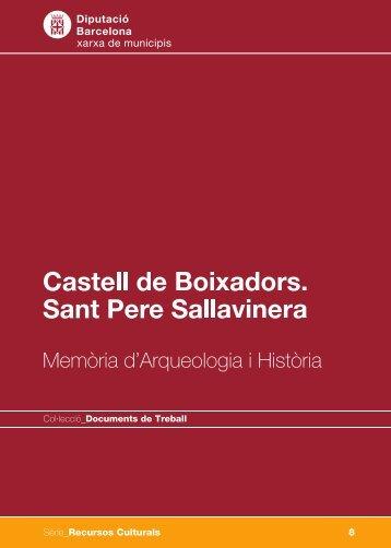 Castell de Boixadors. Sant Pere Sallavinera - Diputació de Barcelona