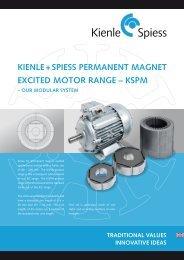 kienle + spiess permanent magnet excited motor range – kspm – our ...