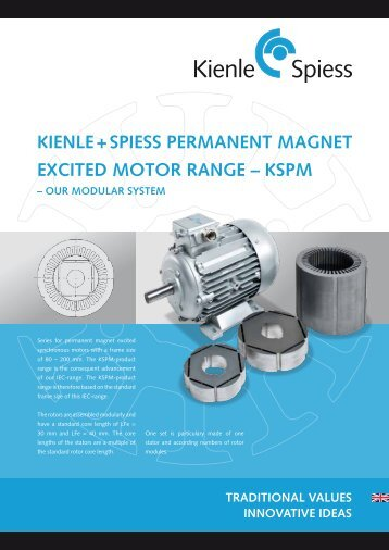 kienle + spiess permanent magnet excited motor range – kspm – our ...