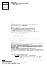 November, 2012 REF: Selection Procedure for Masters Departments ...