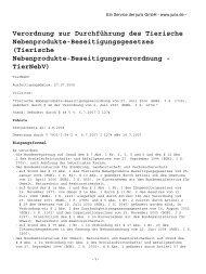 Verordnung zur Durchführung des Tierische - Abfallwirtschaft und ...