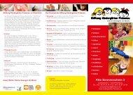 Flyer Kita Sonnenschein 2 (pdf) - Stiftung Kindergärten Finkenau