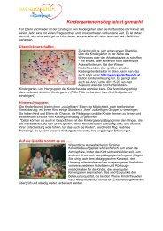 Kindergarteneinstieg leicht gemacht - HP - NEU - Kinderfreunde