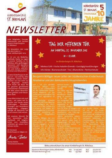 Newsletter 11/2012 als PDF-Dokument - Kinderhospiz St. Nikolaus