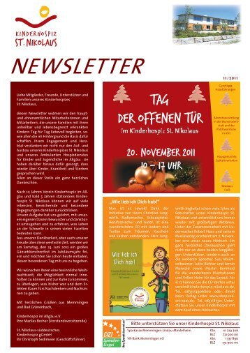 Newsletter 11/2011 als PDF-Dokument - Kinderhospiz St. Nikolaus