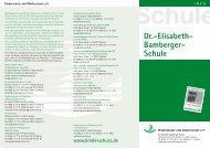 Dr.-Elisabeth-Bamberger-Schule - Kurzinformation - Kinderschutz eV