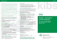 Kontakt-, Informations- und Beratungsstelle für ... - Kinderschutz eV