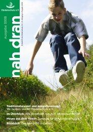 nah dran - Ausgabe 2008 - Kinderschutz eV