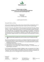 Kinderrechte in die Landesverfassung - Kinderschutz eV