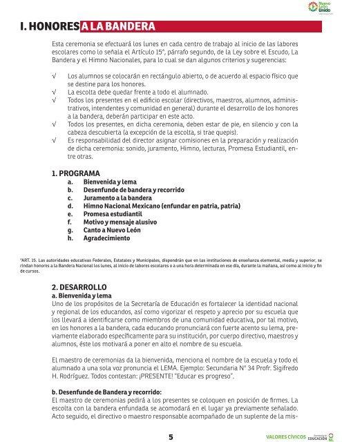 programa+de+honores+a+la+bandera+primaria+estado+de+mexico