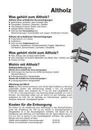 Was gehört zum Altholz? - Kreisabfallwirtschaftsbetrieb