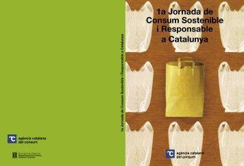 jornades consum_corr.indd - Agència Catalana del Consum