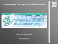 II International Conf. on Sustainability Science - UPC