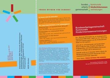 Flyer der BAG - Deutschen Kinderschutzbundes Sachsen e.V.