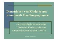 Dimensionen von Kinderarmut und kommunale Handlungsoptionen
