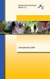 Jahresbericht 2009 - Kinderschutz-Zentrum Berlin