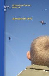 Jahresbericht 2010 - Kinderschutz-Zentrum Berlin