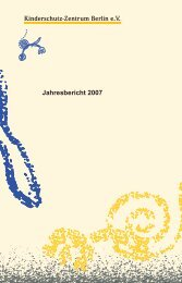 Jahresbericht 2007 - Kinderschutz-Zentrum Berlin