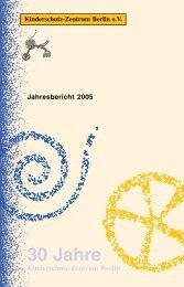 Jahresbericht 2005 - Kinderschutz-Zentrum Berlin