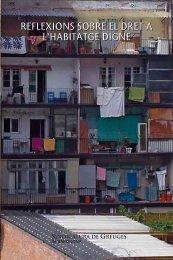 Reflexions sobre el dret a l'habitatge digne - Ajuntament de Barcelona